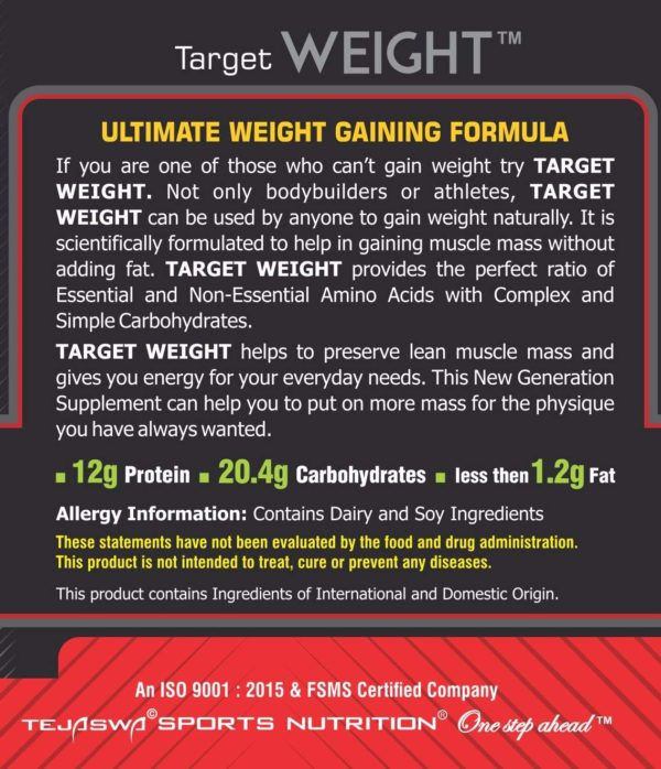 Best weight gainer target weight